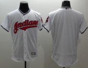 Wholesale Cheap Indians Blank White Flexbase Authentic Collection Stitched MLB Jersey