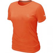 Wholesale Cheap Women's Nike Chicago Bears Chest Embroidered Logo T-Shirt Orange