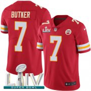 Wholesale Cheap Nike Chiefs #7 Harrison Butker Red Super Bowl LIV 2020 Team Color Youth Stitched NFL Vapor Untouchable Limited Jersey