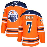 Wholesale Cheap Adidas Oilers #7 Paul Coffey Orange Home Authentic Stitched NHL Jersey