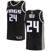 Wholesale Cheap Women's Sacramento Kings #24 Buddy Hield Black Basketball Swingman Statement Edition Jersey