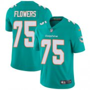 Wholesale Cheap Nike Dolphins #75 Ereck Flowers Aqua Green Team Color Youth Stitched NFL Vapor Untouchable Limited Jersey