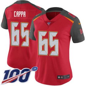 Wholesale Cheap Nike Buccaneers #65 Alex Cappa Red Team Color Women\'s Stitched NFL 100th Season Vapor Untouchable Limited Jersey