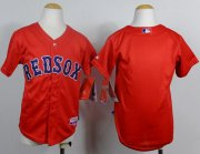 Wholesale Cheap Red Sox Blank Red Cool Base Stitched Youth MLB Jersey