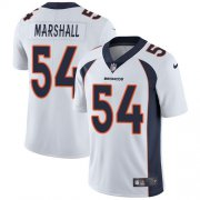 Wholesale Cheap Nike Broncos #54 Brandon Marshall White Men's Stitched NFL Vapor Untouchable Limited Jersey