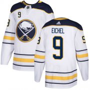 Wholesale Cheap Adidas Sabres #9 Jack Eichel White Road Authentic Youth Stitched NHL Jersey