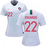 Wholesale Cheap Women's Portugal #22 Eduardo Away Soccer Country Jersey