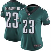 Wholesale Cheap Nike Eagles #23 Rodney McLeod Jr Midnight Green Team Color Women's Stitched NFL Vapor Untouchable Limited Jersey
