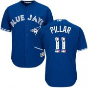 Wholesale Cheap Blue Jays #11 Kevin Pillar Blue Team Logo Fashion Stitched MLB Jersey