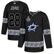 Wholesale Cheap Adidas Stars #28 Stephen Johns Black Authentic Team Logo Fashion 2020 Stanley Cup Final Stitched NHL Jersey