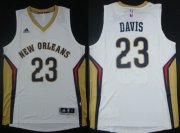 Wholesale Cheap New Orleans Pelicans #23 Anthony Davis Revolution 30 Swingman White Jersey