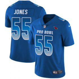 Wholesale Cheap Nike Cardinals #55 Chandler Jones Royal Men\'s Stitched NFL Limited NFC 2018 Pro Bowl Jersey