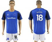 Wholesale Cheap Everton #18 Barry Home Soccer Club Jersey