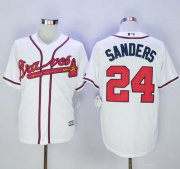 Wholesale Cheap Braves #24 Deion Sanders White New Cool Base Stitched MLB Jersey