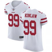 Wholesale Cheap Nike 49ers #99 Javon Kinlaw White Men's Stitched NFL New Elite Jersey