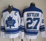 Wholesale Cheap Maple Leafs #27 Darryl Sittler White CCM Throwback Third Stitched NHL Jersey