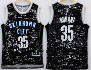 Wholesale Cheap Men's Oklahoma City Thunder #35 Kevin Durant Adidas 2015 Gray City Lights Swingman Jersey