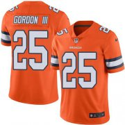 Wholesale Cheap Nike Broncos #25 Melvin Gordon III Orange Youth Stitched NFL Limited Rush Jersey
