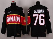 Wholesale Cheap Olympic 2014 CA. #76 P.K Subban Black Stitched NHL Jersey