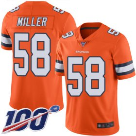 Wholesale Cheap Nike Broncos #58 Von Miller Orange Men\'s Stitched NFL Limited Rush 100th Season Jersey