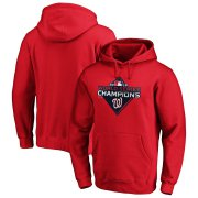 Wholesale Cheap Washington Nationals Majestic 2019 World Series Champions Logo Pullover Hoodie Red