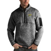 Wholesale Cheap Dallas Stars Antigua Fortune Quarter-Zip Pullover Jacket Charcoal