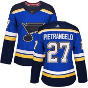 Wholesale Cheap Adidas Blues #27 Alex Pietrangelo Blue Home Authentic Women's Stitched NHL Jersey