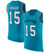 Wholesale Cheap Nike Panthers #15 Chris Hogan Blue Alternate Men's Stitched NFL Limited Rush Tank Top Jersey