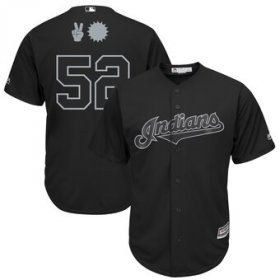 Wholesale Cheap Cleveland Indians #52 Mike Clevinger Majestic 2019 Players\' Weekend Cool Base Player Jersey Black