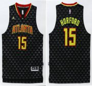 Wholesale Cheap Men's Atlanta Hawks #15 Al Horford Revolution 30 Swingman 2015-16 New Black Jersey