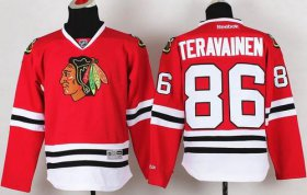 Wholesale Cheap Blackhawks #86 Teuvo Teravainen Red Stitched Youth NHL Jersey