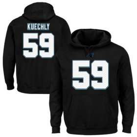 Wholesale Cheap Panthers #59 Luke Kuechly Black Majestic Eligible Receiver II Name & Number NFL Hoodie
