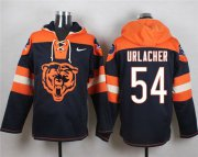 Wholesale Cheap Nike Bears #54 Brian Urlacher Navy Blue Player Pullover NFL Hoodie
