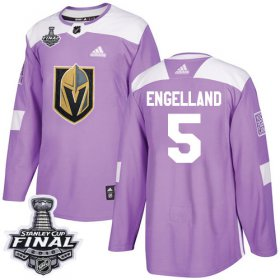 Wholesale Cheap Adidas Golden Knights #5 Deryk Engelland Purple Authentic Fights Cancer 2018 Stanley Cup Final Stitched NHL Jersey