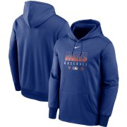 Wholesale Cheap Men's New York Mets Nike Royal Authentic Collection Therma Performance Pullover Hoodie