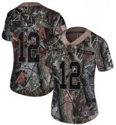 Wholesale Cheap Nike Seahawks #12 Fan Camo Women's Stitched NFL Limited Rush Realtree Jersey