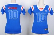 Wholesale Cheap Nike Giants #10 Eli Manning Royal Blue Women's Stitched NFL Elite Draft Him Shimmer Jersey