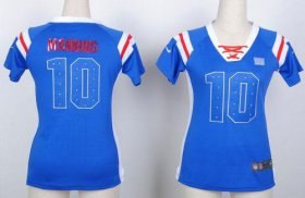 Wholesale Cheap Nike Giants #10 Eli Manning Royal Blue Women\'s Stitched NFL Elite Draft Him Shimmer Jersey