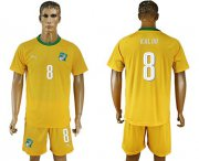 Wholesale Cheap Cote d'lvoire #8 Kalou Home Soccer Country Jersey