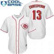 Wholesale Cheap Reds #13 Dave Concepcion White Cool Base Stitched Youth MLB Jersey