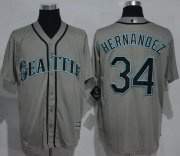 Wholesale Cheap Mariners #34 Felix Hernandez Grey New Cool Base Stitched MLB Jersey