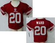 Wholesale Cheap Toddler Nike 49ers #20 Jimmie Ward Red Team Color Stitched NFL Elite Jersey