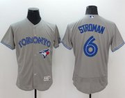 Wholesale Blue Jays #6 Marcus Stroman Grey Flexbase Authentic Collection Stitched Baseball Jersey