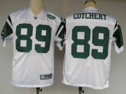 Wholesale Cheap Jets #89 Jerricho Cotchery White Stitched NFL Jersey