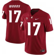 Wholesale Cheap Washington State Cougars 17 Kassidy Woods Red College Football Jersey