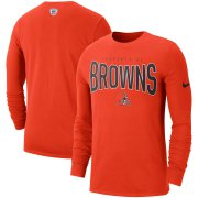 Wholesale Cheap Cleveland Browns Nike Sideline Property Of Performance Long Sleeve T-Shirt Orange