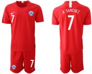 Wholesale Cheap Chile #7 A.Sanchez Home Soccer Country Jersey