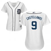 Wholesale Cheap Tigers #9 Nick Castellanos White Home Women's Stitched MLB Jersey