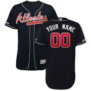 Wholesale Cheap Atlanta Braves Majestic Alternate 2019 Authentic Collection Flex Base Custom Jersey Navy