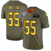 Wholesale Cheap Dallas Cowboys #55 Leighton Vander Esch NFL Men's Nike Olive Gold 2019 Salute to Service Limited Jersey